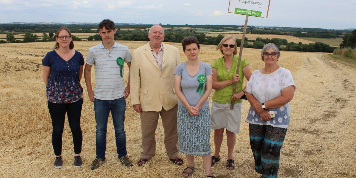 Keith Taylor MEP with Green anti-Expressway campaigners in Oxford